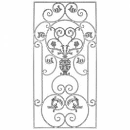 1015 Панель кованая декоративная