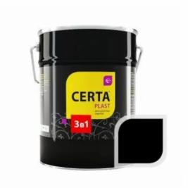 Грунт-эмаль 3 в 1 по ржавчине ЦЕРТА-ПЛАСТ черный, 4 кг.