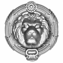 659 Кованый элемент ручка-стучалка Лев