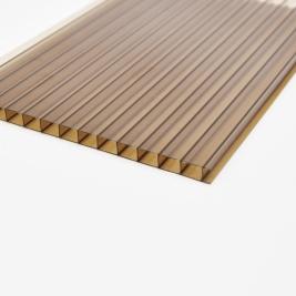 Сотовый поликарбонат 4 мм, коричневый