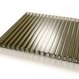 Сотовый поликарбонат 4 мм, бронза