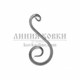 """В-300 Кованый элемент """"Вензель"""" из профтрубы, 300 мм"""