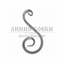 """В-400 Кованый элемент """"Вензель"""" из профтрубы, 400 мм"""