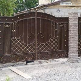 Кованые ворота В-002, кв.м.