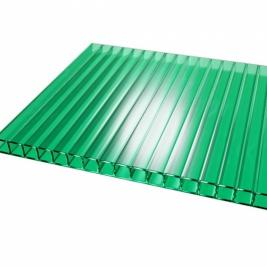 Сотовый поликарбонат 4 мм, зеленый