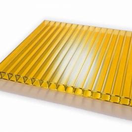 Сотовый поликарбонат 4 мм, желтый